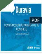 Procedimiento de construcción de pavimento rígido (Duravía).