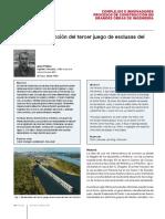 Informe oficial de la construcción de las nuevas esclusas del canal de Panamá.