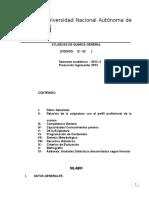 Sylabuss de Quimica General - Ing. Civil