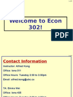 ECON 302 Lecture 1