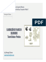 Prc3a1ctica Asistida Dibujo en Solidworks