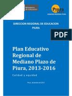 Plan Educativo Regional de Mediano Plazo de Piura-2013-2016