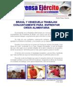 BRASIL Y VENEZUELA TRABAJAN CONJUNTAMENTE PARA  ENFRENTAR CRÌSIS ALIMENTARIA