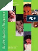 Alfageme Cantos y Martinez - De La Participacion Al Protagonismo Infantil