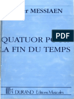 Olivier Messiaen - Quatour Pour La Fin Du Temps