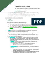 Exam Study Guide