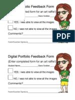 Portfolio Feedback Form