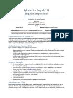 syllabus for english 101 fall 2016