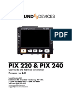 Sound Devices Pix 240 Manual