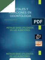 metales en odontologia