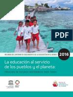 Unesco La Educación al Servicio de los pueblos y el planeta