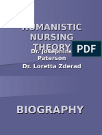 160134923 Humanistic Nursing Theory