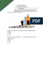 Evaluación de proceso MATE - 4°