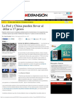 La Fed y China Pueden Llevar Al Dólar a 17 Pesos - Economía - CNNExpansion.com