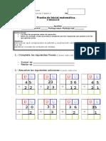 PRUEBA INICIAL matemática 1°