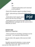 Reservoir Properties