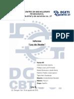 Ley de Hooke - Informe