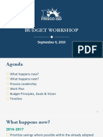 Frisco ISD budget workshop 9-6-2016
