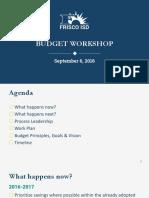Frisco ISD budget workshop 9-6-2016