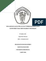 Pengaruh Kualitas Pelayanan Terhadap Kepuasan Konsumen Pada Mini Market Indomart