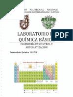 Manual de Laboratorio de Química Básica, ESIME Zacatenco 2017-1