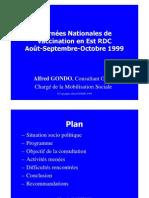 Rapport Final Journées nationales de vaccination en Est RDC Goma