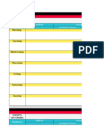 Content Calendar Template