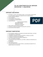 Comparacion de Las Caracteristicas Del Enfoque Cuantiutativo y Cualitativo
