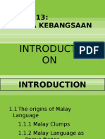 Week 1 - Introduction to Bahasa Kebangsaan