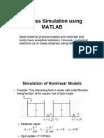 Process Simulation Using MATLAB