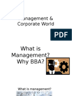 Management & Corporate World
