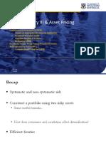 WK05 Portfolio Theory III & Asset Pricing_pre