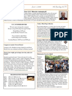 University Catholic Center Bulletin for June 1, 2008