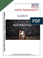 Mathematics Chapter-wise Assignment for Class 9 Summative Assessment-1