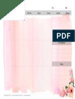 Happypaperie Planner Semanal 2016