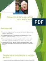 Evaluación de La Funcionalidad en El Adulto Mayor