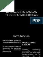 Operaciones Basicas Tecno-farmaceuticas