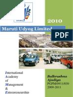 compant profile 2010@ maruti udyog ltd