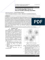 An Efficient Method of Partitioning High Volumes of Multidimensional Data for Parallel Clustering Algorithms