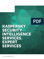 Kaspersky Security Intelligence Service Expert Services