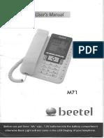 Beetel M71 Manual