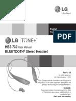HBS730 Manual