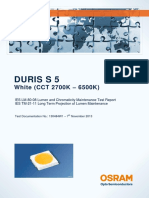 Duris s 5 - Gw Pslps1 Ec - 3 000h_6 000h - 160ma - 3000k - 130484w1 - Ies Lm-80-08 Test Report and Tm-21-11 Projection
