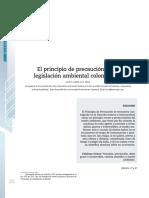 El Principio de Precaución en La Legislación Ambiental Colombiana