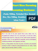 How to Start Rice Farming and Processing Business (Paddy Milling, Parboiled Rice, Basmati Rice, Rice Milling, Breakfast Cereals and Infant Foods)