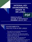 IESL National Key Environmental Issues in Sri Lanka