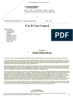 PCA Food & Beverage Cost Controls - Finance 101