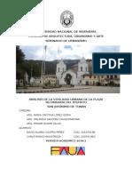 Análisis de la vitalidad urbana de la plaza secundaria de San Jerónimo de Tunán - Aspectos generales
