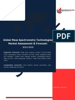 Global Mass Spectrometry Technologies Market Assessment & Forecast