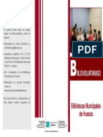 Bibliovoluntariado en las Bibliotecas municipales de Huesca